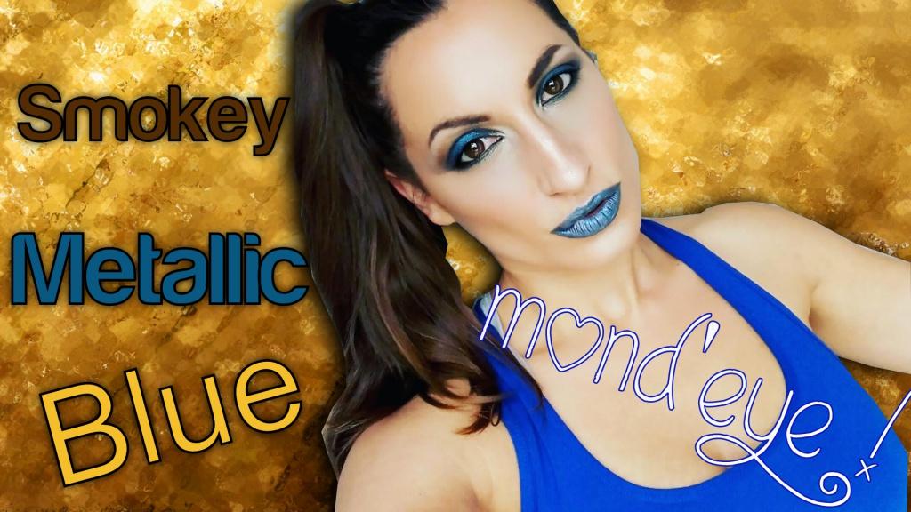 Metallic Blue Makeup