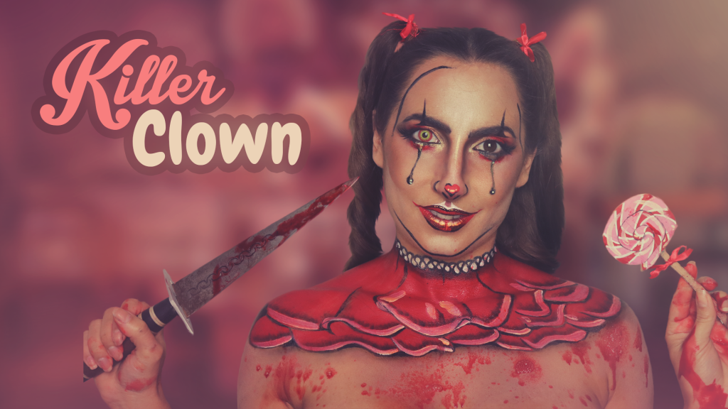 Cute Killer Clown Makeup
