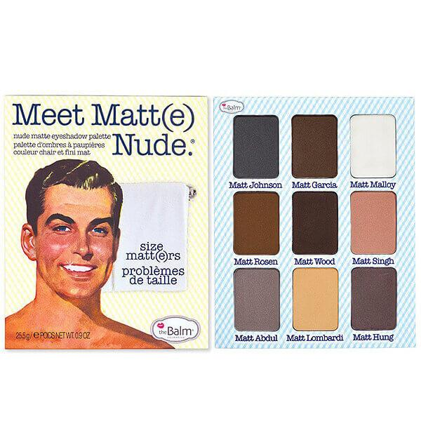 The Balm Cosmetics - Meet Matt(e) Nude - Nude Matte Eyeshadow Palette Image