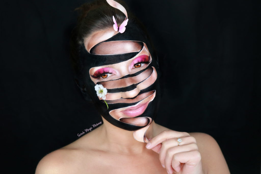 Ribbon Illusion Makeup – Celebrating Spring