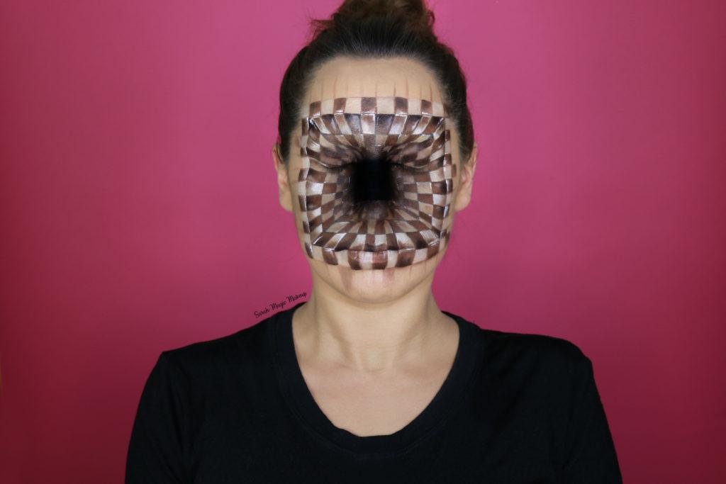 Chessboard Illusion Makeup